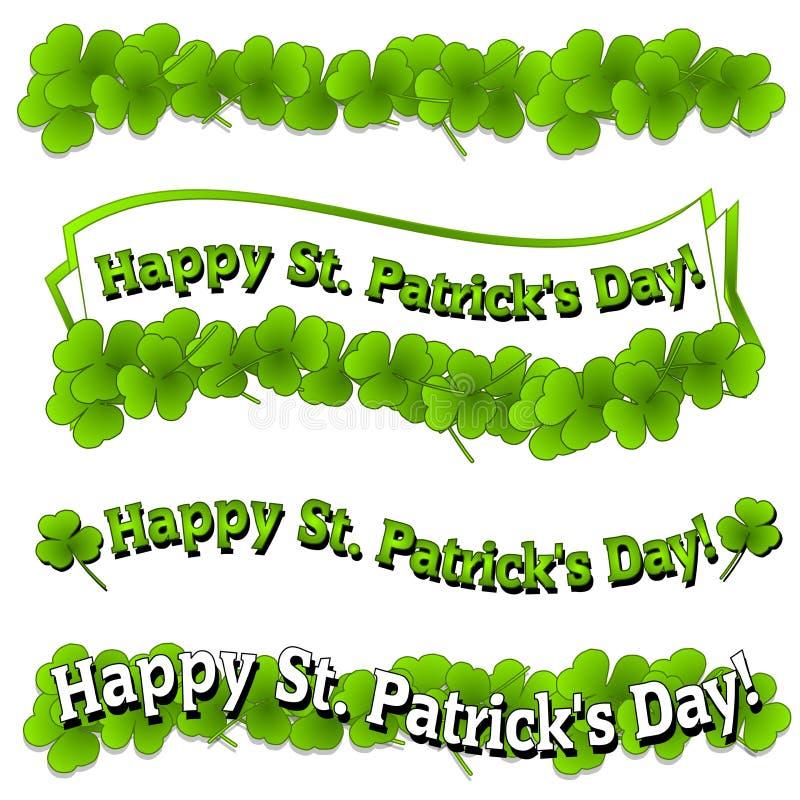 banner dnia Patrick logo jest szczęśliwy st. royalty ilustracja