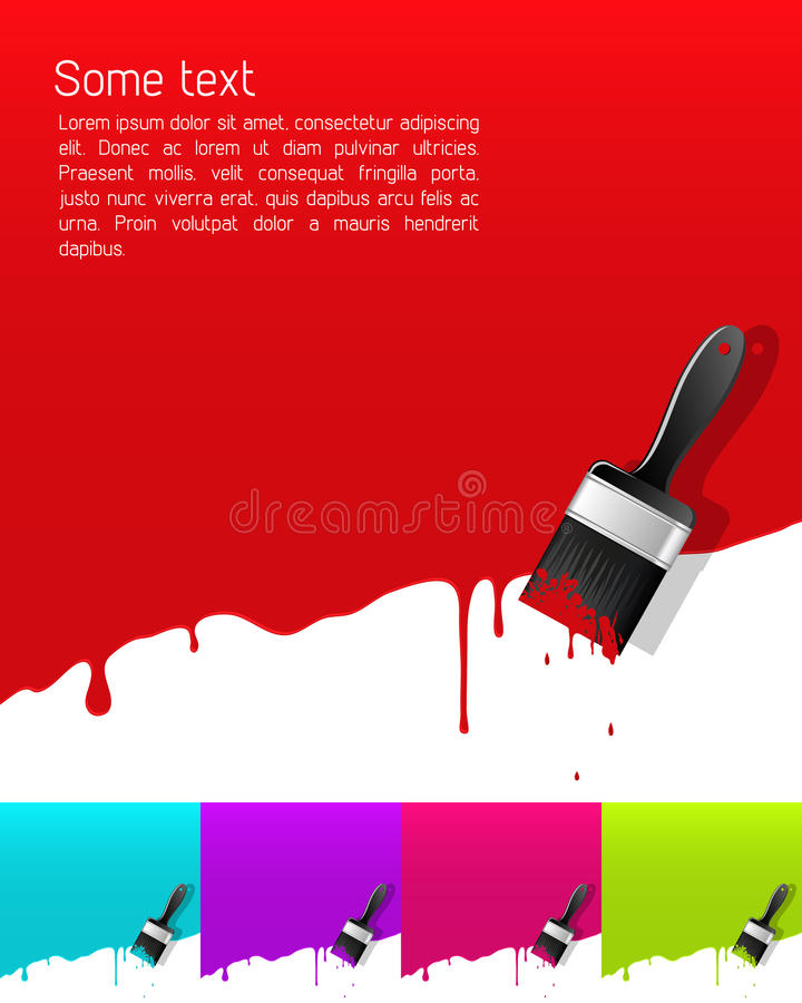 Download Banner with dripping paint stock vector. Image of cover - 22299351