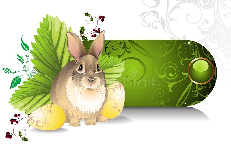 Download Banner with Easter rabbit stock photo. Image of berry - 18777246