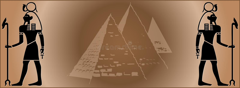 banner Egiptu sieci royalty ilustracja