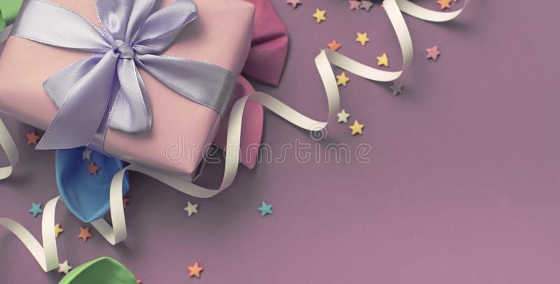 Banner, Festive background decorative composition materials for celebration and decoration. royalty free stock images