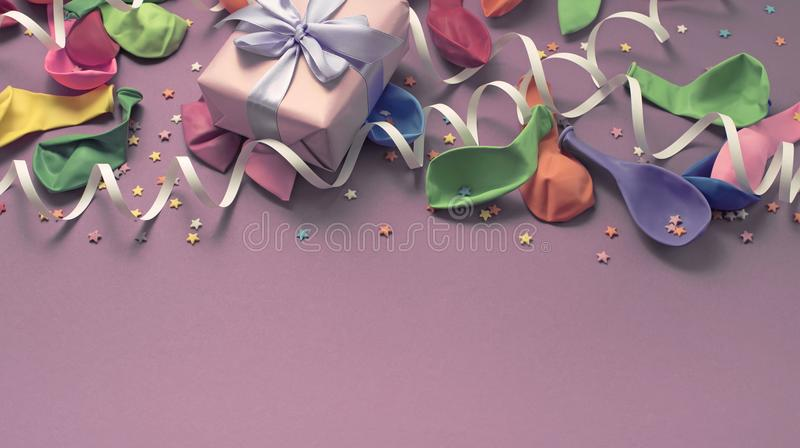 Banner, Festive background decorative composition materials for celebration and decoration. stock image