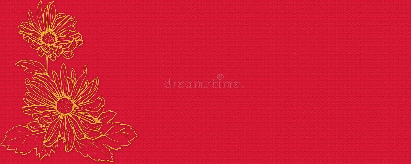 Download Banner flower stock illustration. Image of retro, calssic - 11725721