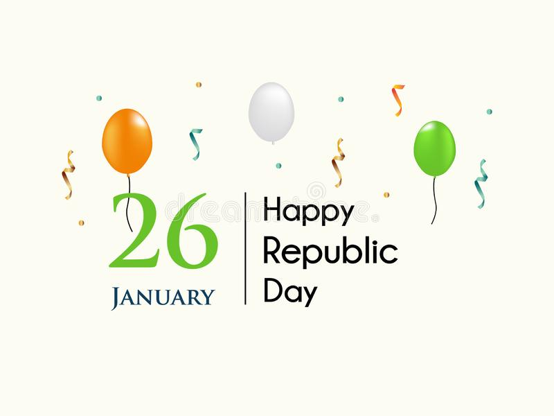 Banner gelukkige republiek dag Indiër 2019 vector illustratie
