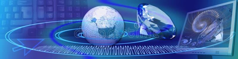 Banner: Glasheldere wwInternet aanslutingen royalty-vrije illustratie