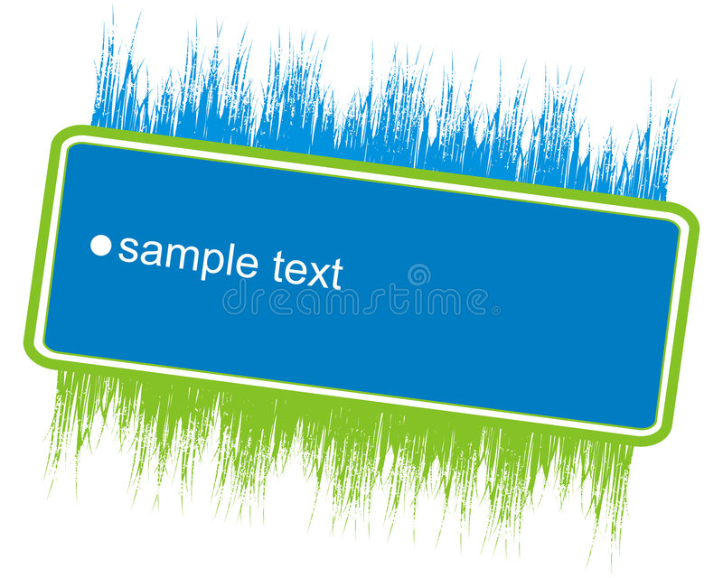 Download Banner With Grass Ornaments Stock Vector - Image: 2582522