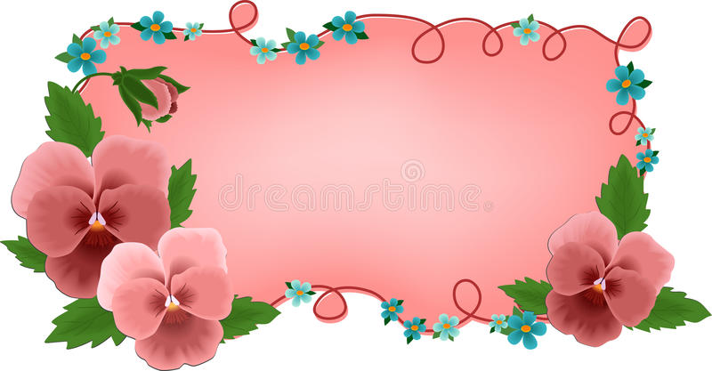 Banner or greetings card with flowers vector illustration