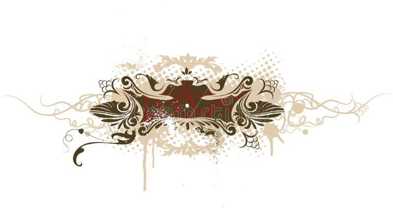 banner grunge dekoracyjny wektora royalty ilustracja
