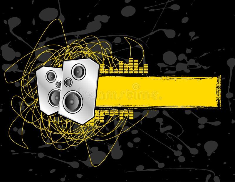 banner grunge mówcą. ilustracja wektor
