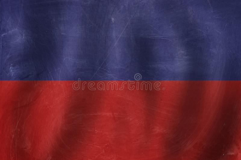 Banner with Haiti flag background. Travel in Haiti concept.  royalty free stock images