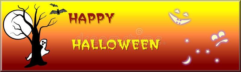 banner Halloween. ilustracja wektor