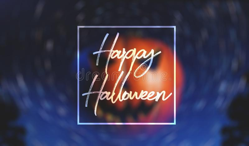 Banner for Halloween,. Jack-o ` - lantern on starry background royalty free stock image