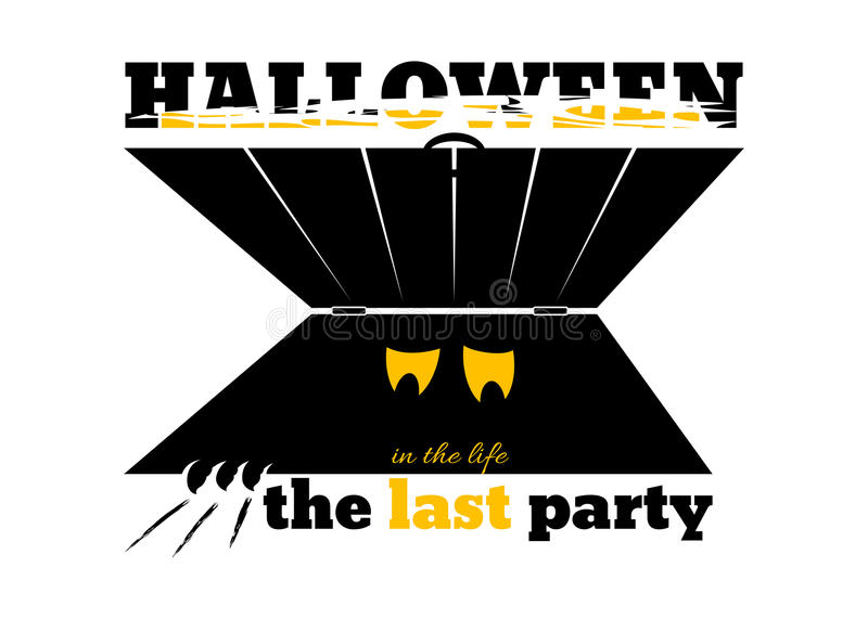 Banner for Halloween party royalty free illustration