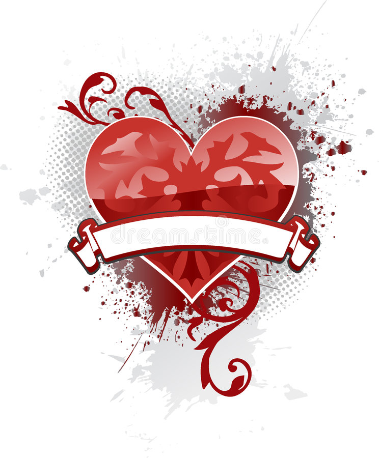 Banner Heart royalty free stock images