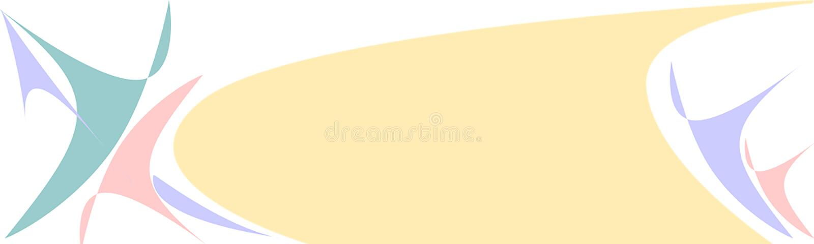 Banner horizontal. Blue, pink, beige royalty free stock image