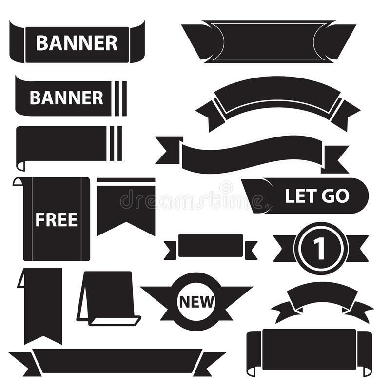 Banner icons set01 stock image