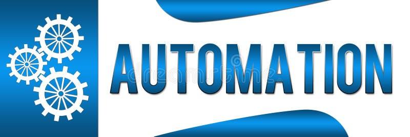 Automation Blue Banner stock illustration