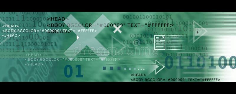 Banner Image / Internet Icons, Arrows + HTML code stock illustration