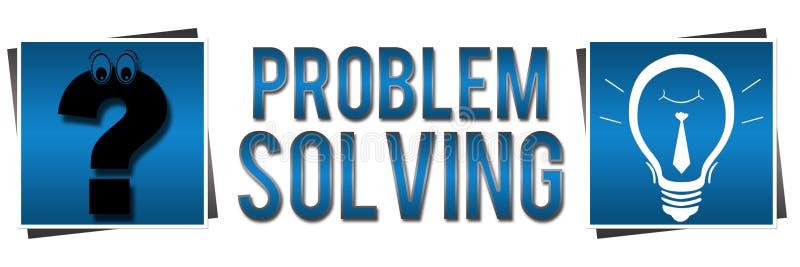 Problem Solving Blue Banner royalty free illustration
