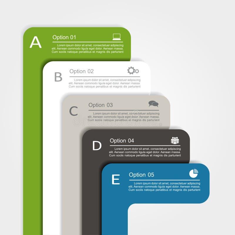 Banner infographic design template. Vector. Banner infographic design template with place for your data. Vector illustration royalty free illustration