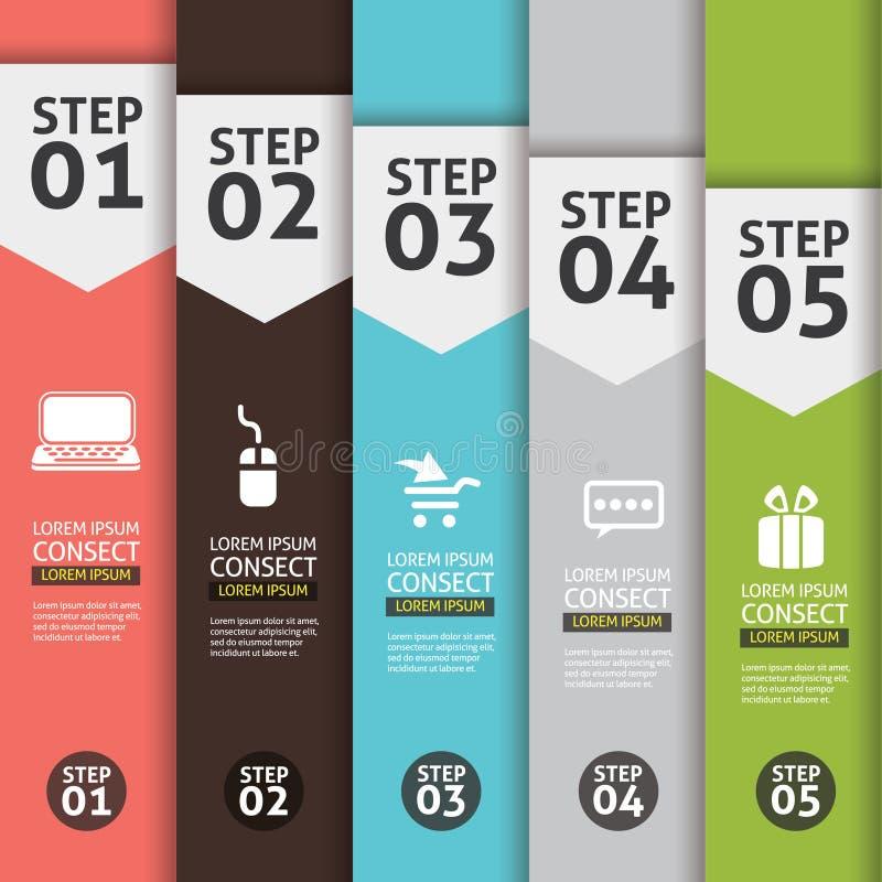 Banner Infographics. (Vector Background Number Options Banner, creative design