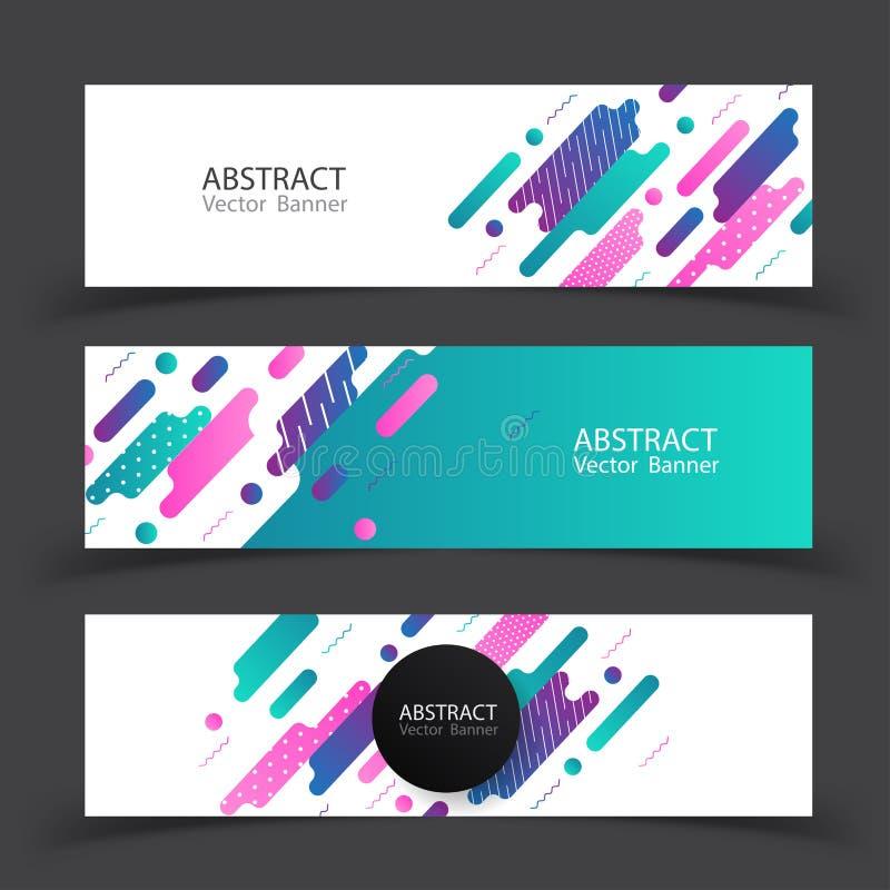 Banner Kleurrijke Dynamische Samenvatting Vector illustratie vector illustratie