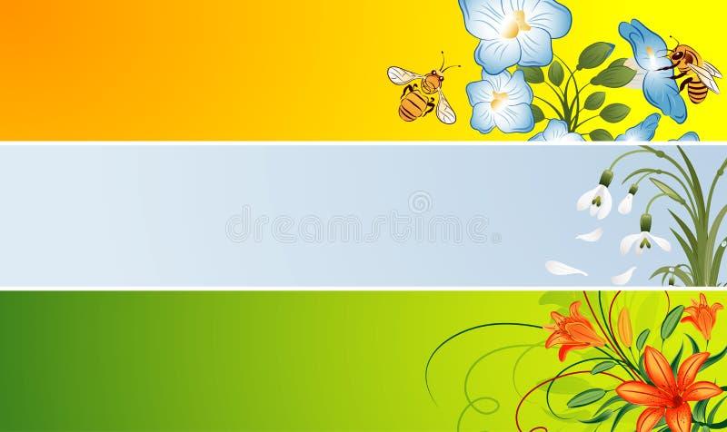 banner kwiat ilustracja wektor