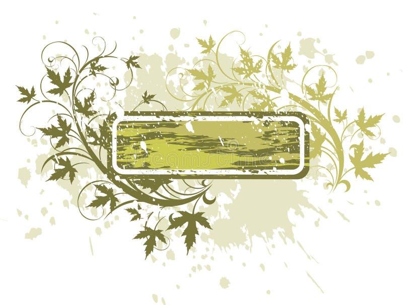 banner kwiaty crunch ilustracja wektor