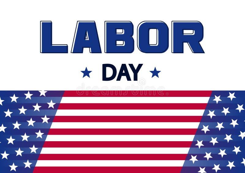 Banner for Labor Day, USA flag. Vector stock illustration