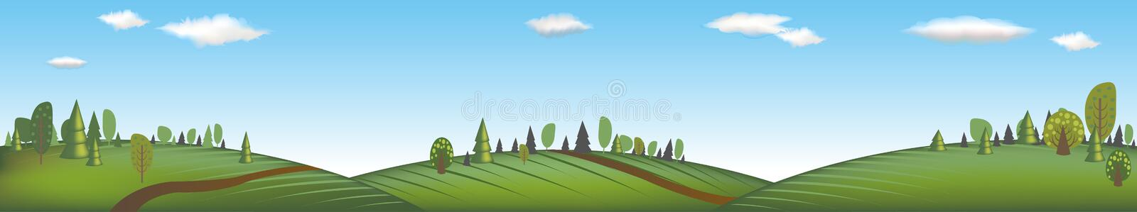 Download Banner With Landscape. Vector Royalty Free Stock Photography - Image: 16935597