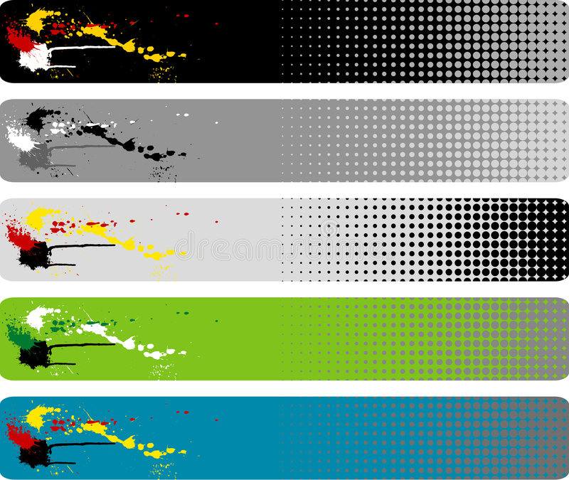 banner ' last splash ' royalty ilustracja