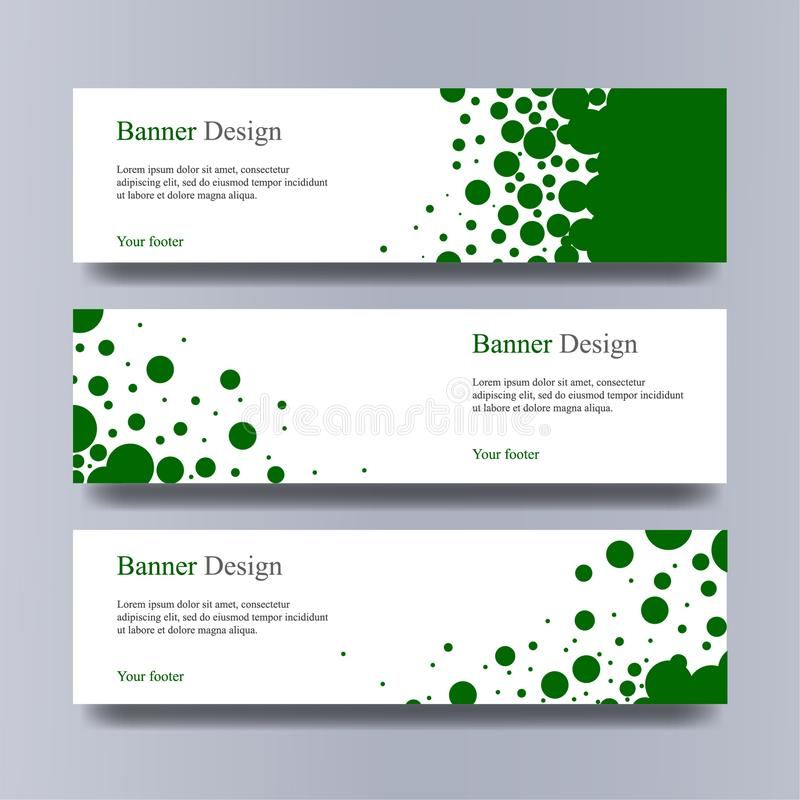 Banner lorem ipsum. rgb. Banner design green, siimple design models royalty free stock photos