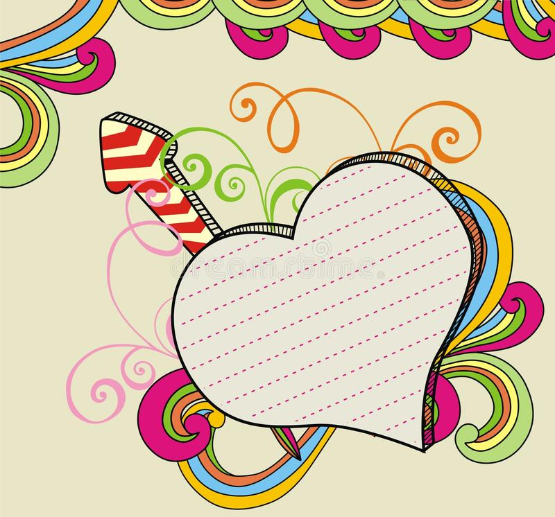 Download Banner love doodle stock vector. Image of bubble, banner - 18665417