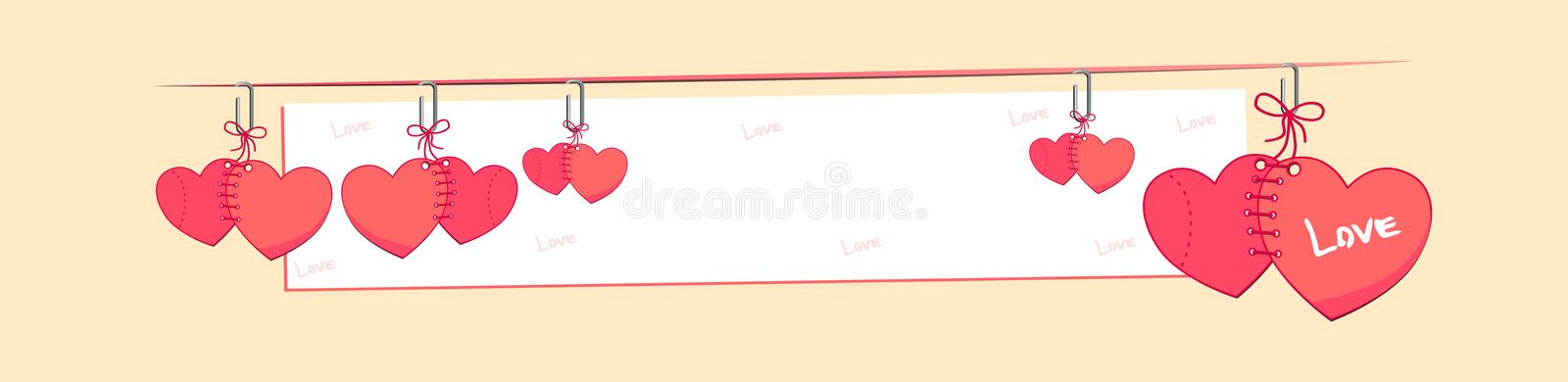 Banner Love. Happy valentines day. Be My Valentine. Valentine card I Love YOU, Be My Valentine. Pink floral backdrop with hearts. Vector illustration happy vector illustration