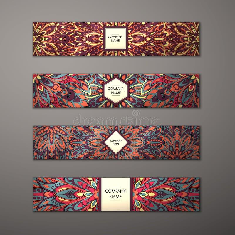 Banner mandala set. stock illustration