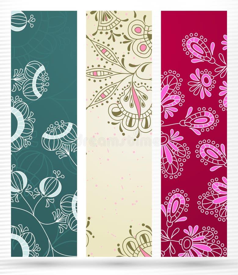 Banner met bloemenpatroon vector illustratie
