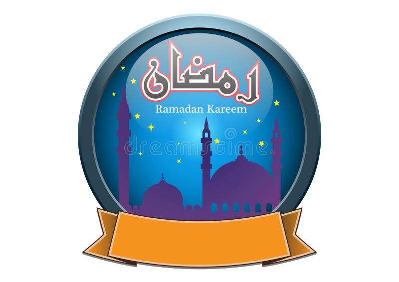 Banner met de Groet van Kareem van de Ramadan