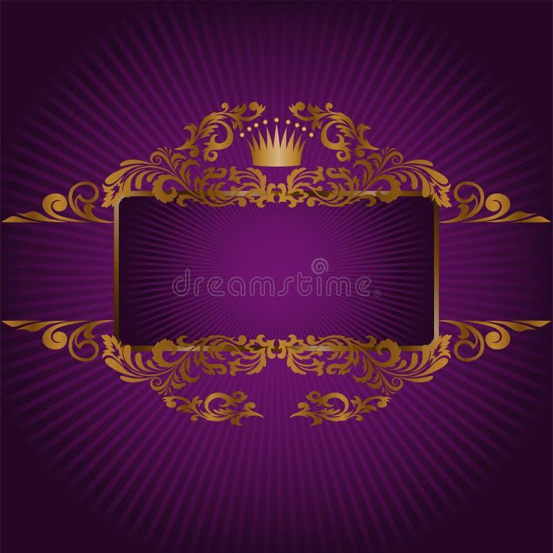 Banner met de koninklijke symbolen vector illustratie