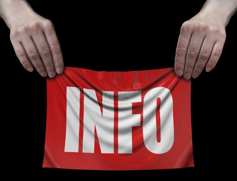 Banner met Informatie in handen royalty-vrije illustratie