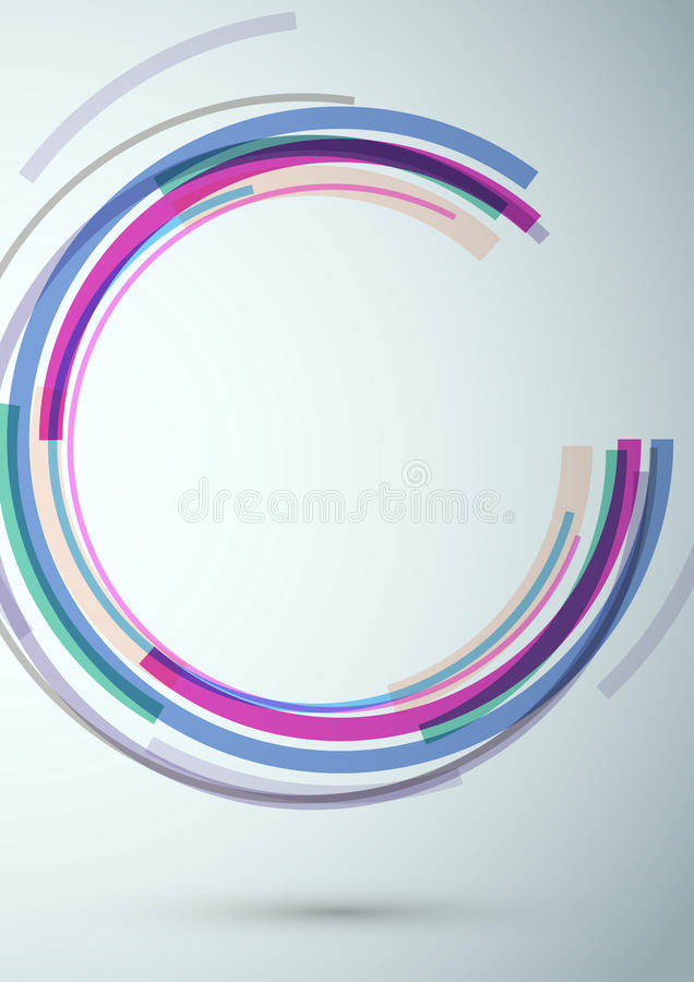 Banner met kleurrijk swooshelement stock illustratie
