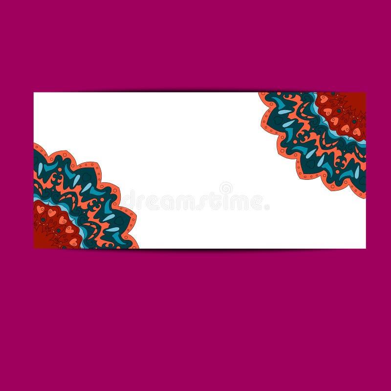 Banner met mandalabloem in Arabische stijl vector illustratie