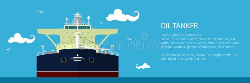 Banner met Olietanker stock illustratie