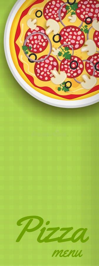 Banner met pizza vector illustratie