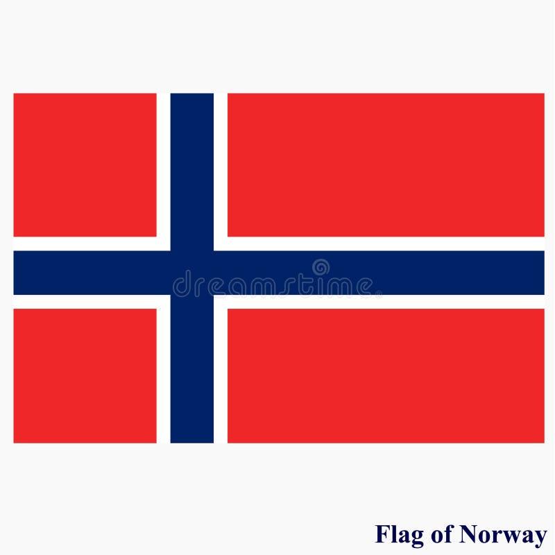 Banner met vlag van Noorwegen royalty-vrije illustratie