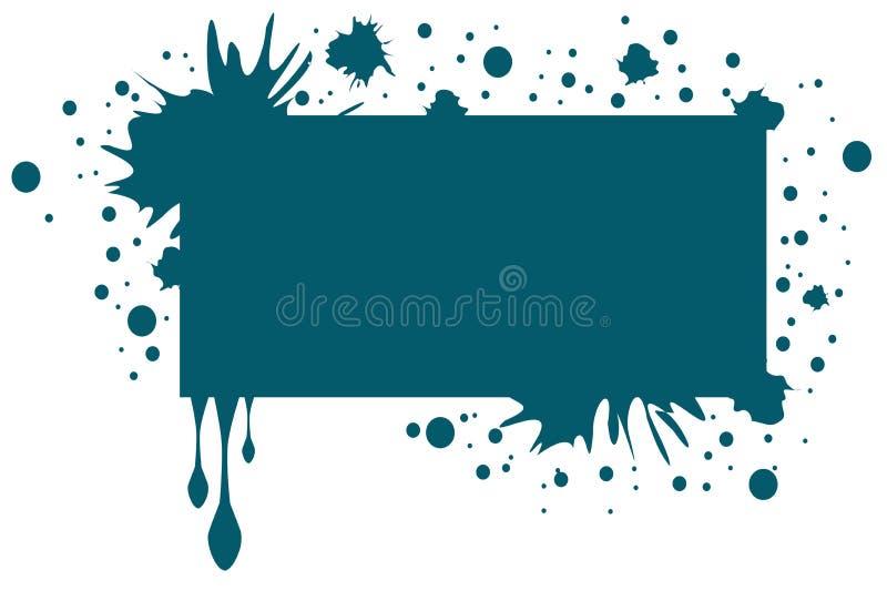 banner met vlekken en dalingen vector illustratie