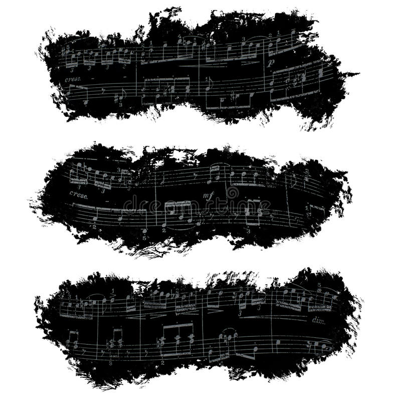Banner, musical notes, background royalty free stock photos