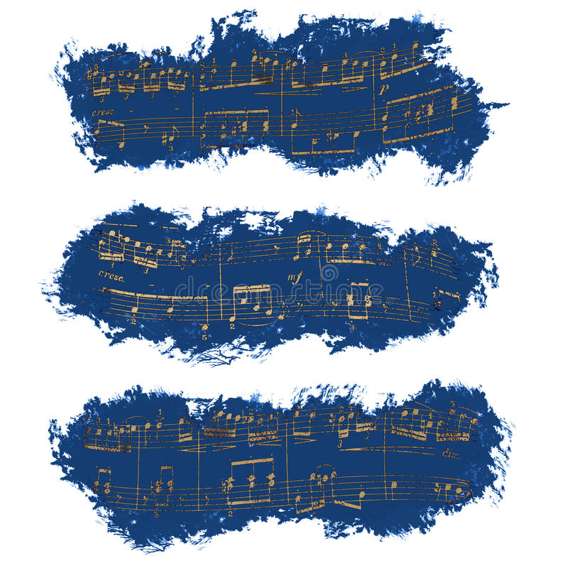 Banner, musical notes, background royalty free stock image