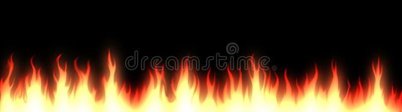 banner nagłówka sieci przeciwpożarowe royalty ilustracja
