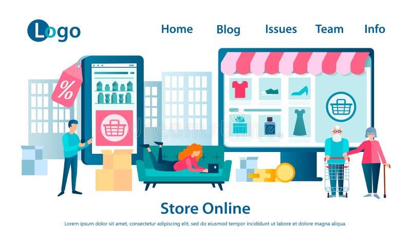 Banner Online Shop概念 库存例证