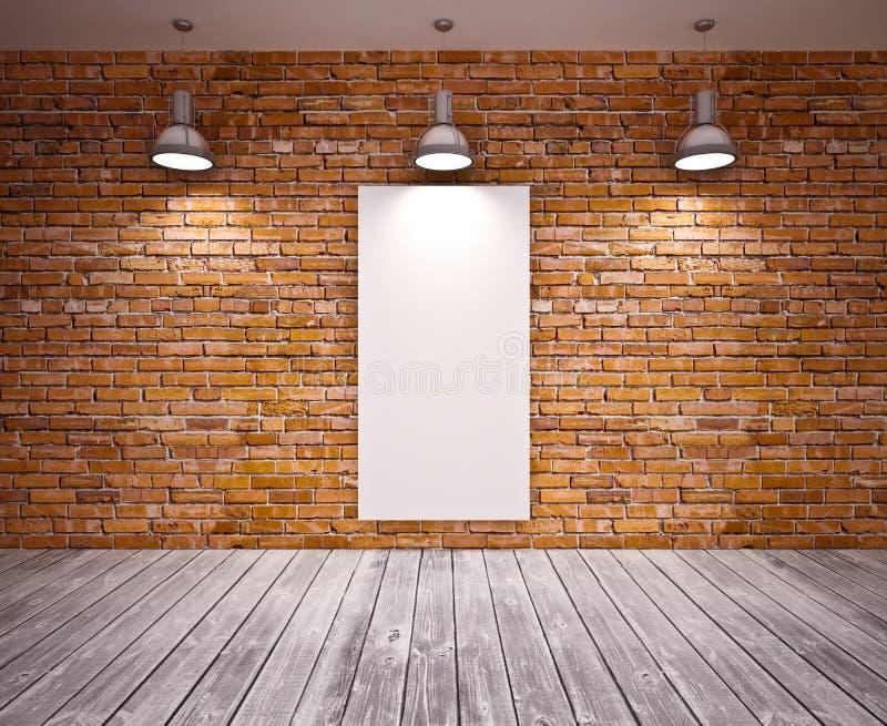 Download Banner op muur stock foto. Afbeelding bestaande uit plank - 29508936